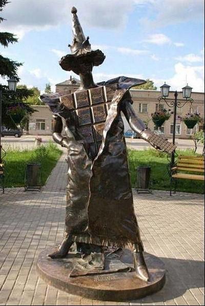 Памятник шоколаду. Покров Прикольные памятники, факты