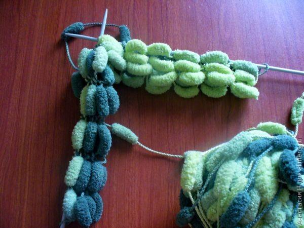 Вязание из помпонной пряжи 23