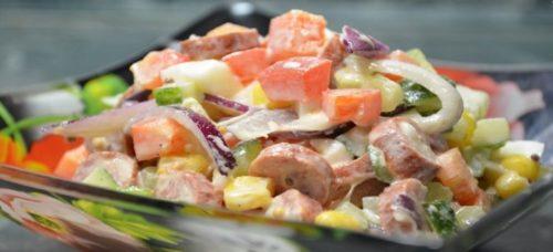 Яркий и вкусный салат «Радуг…