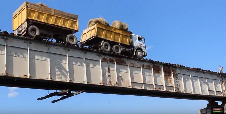 Экстремальный мост в Сибири