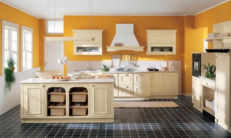 Кухни в стиле прованс традиционно оформляются в более нежных пастельных цветах