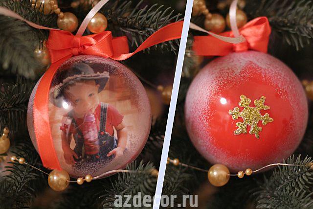 Как самому сделать новогодний шарик - NicosPizza.Ru