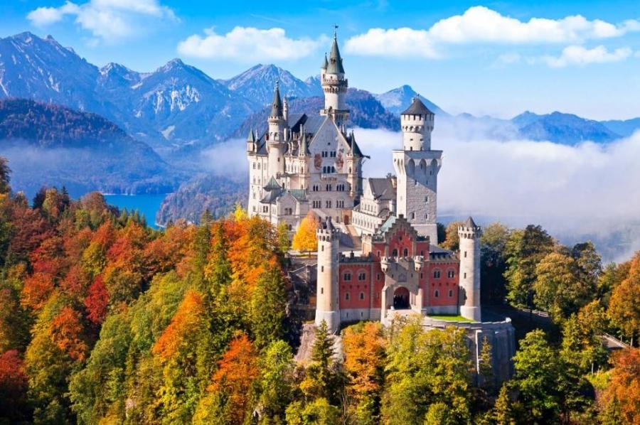 Самые красивые замки мира. Замок Нойшванштайн - сокровище Альп