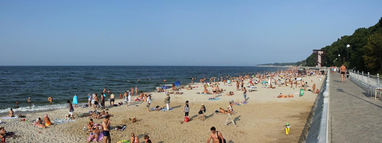 пляж в Пионерском / Калининград курорт, море, отпуск, россия