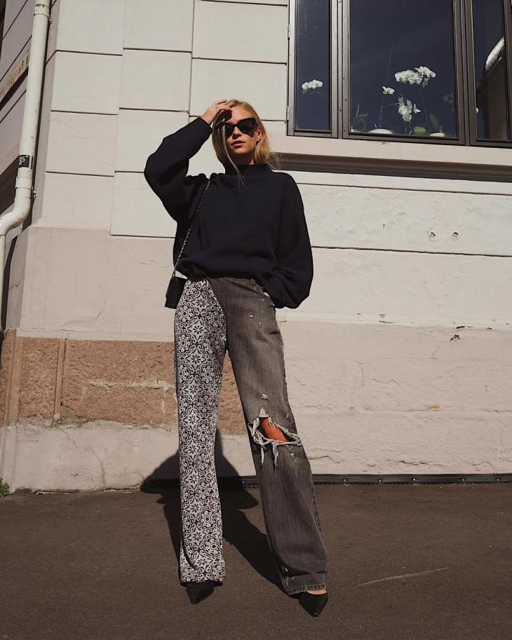 женские брюки-джинсы