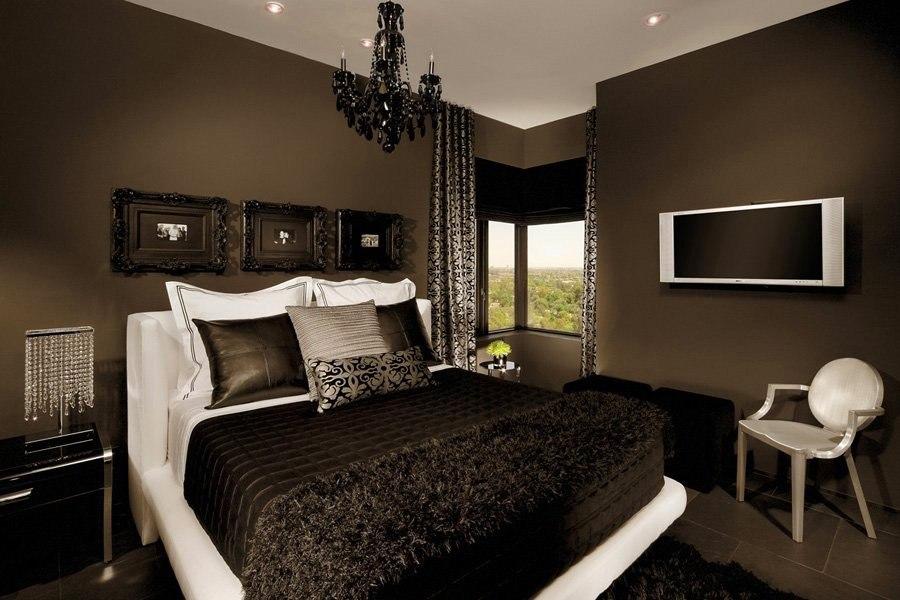 Шоколадная спальня фото