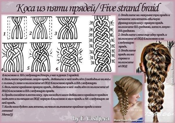 Косы на длинные волосы и схемы плетения