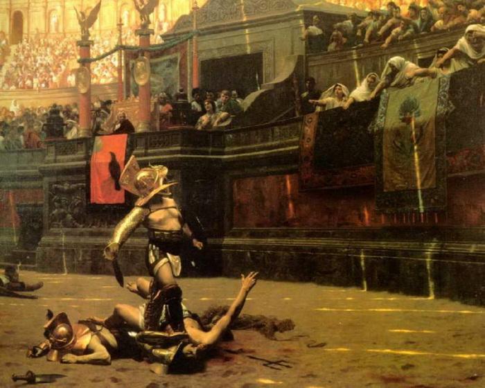 Первая в истории женщина-гладиатор