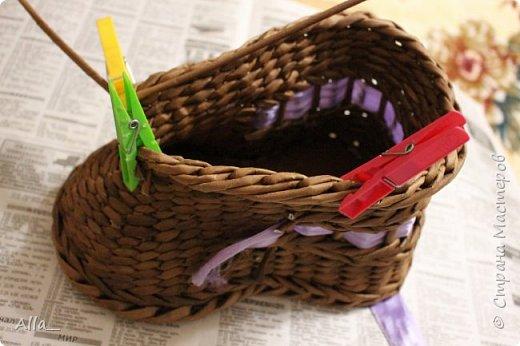 Мастер-класс Поделка изделие Плетение Как я делаю башмак Трубочки бумажные фото 14