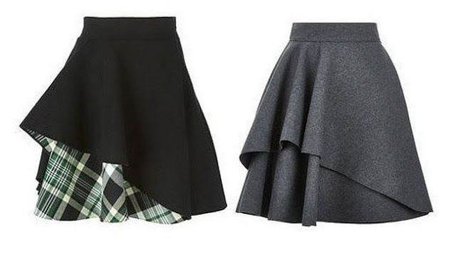 Выкройка оригинальной юбки
