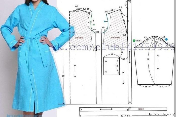 Выкройка халата на все случаи жизни