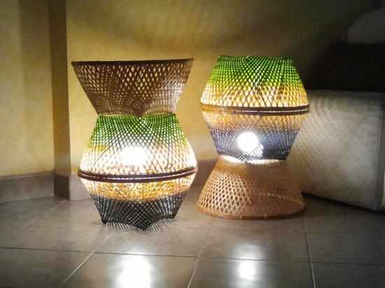 Лампа из корзин