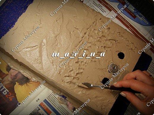 Декор предметов Мастер-класс Ассамбляж Почтовый ящик в технике Терра МК Гипс Краска Материал природный фото 12