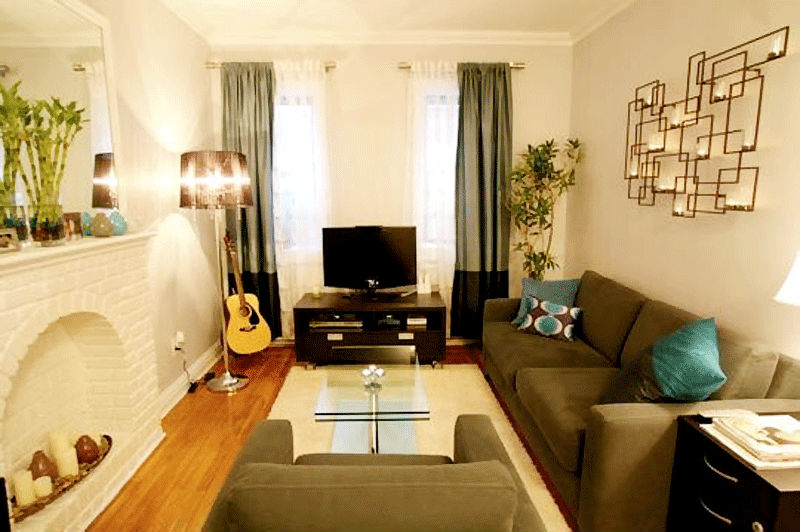 Красивые маленькие гостиные фото