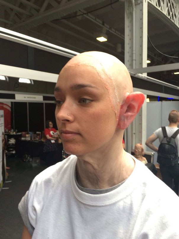 Makeup Artist Transforms Young Girl Into An Old Punk