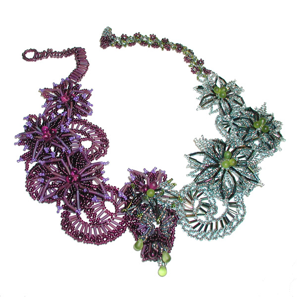 Necklace - Aquamarine Morning And Amethyst Night