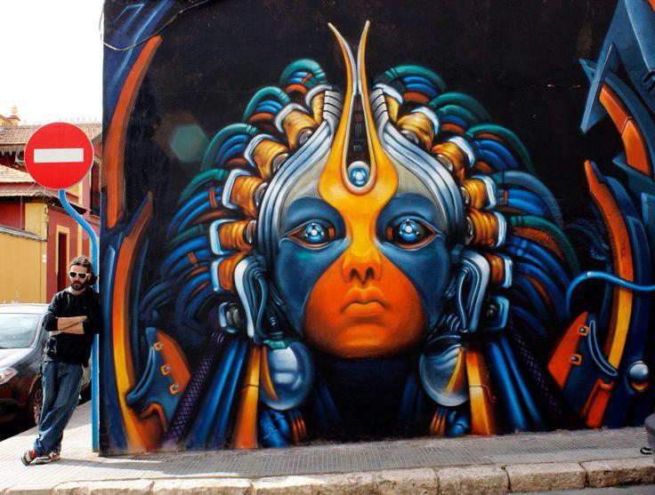 18. Аликанте, Испания граффити, стрит-арт, художники