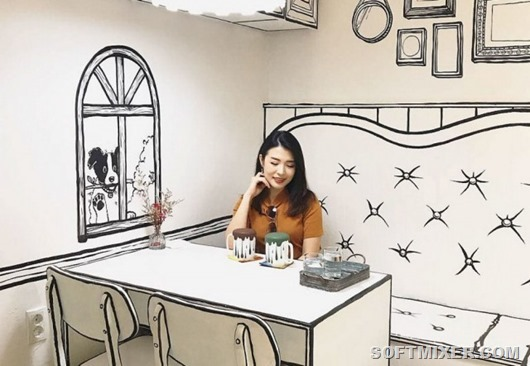 """Нарисованное"" кафе"