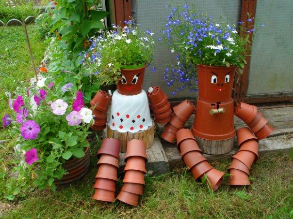 Фото поделки для сада своими руками из подручных материалов с описанием