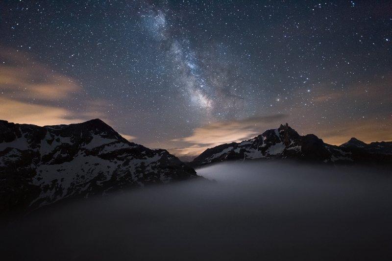 С вершины Mont Malamot высотой 2 917 метров, Котские Альпы горы, красиво, небо, облака, природа, творчество, фото, фотограф