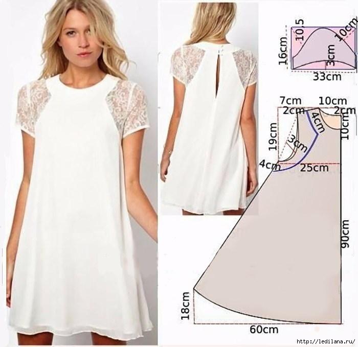 Очень женственное платье с кружевом