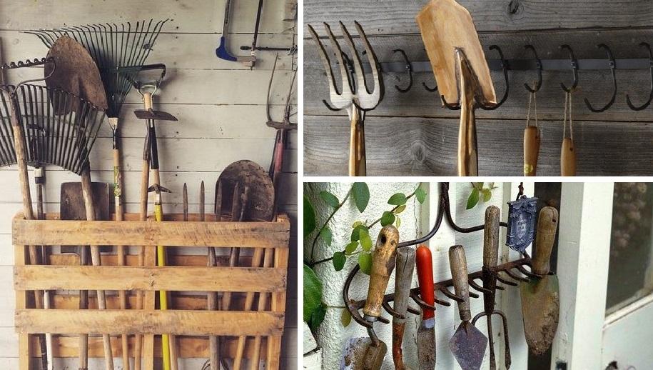 Несколько практичных способов держать садовый инструмент в порядке