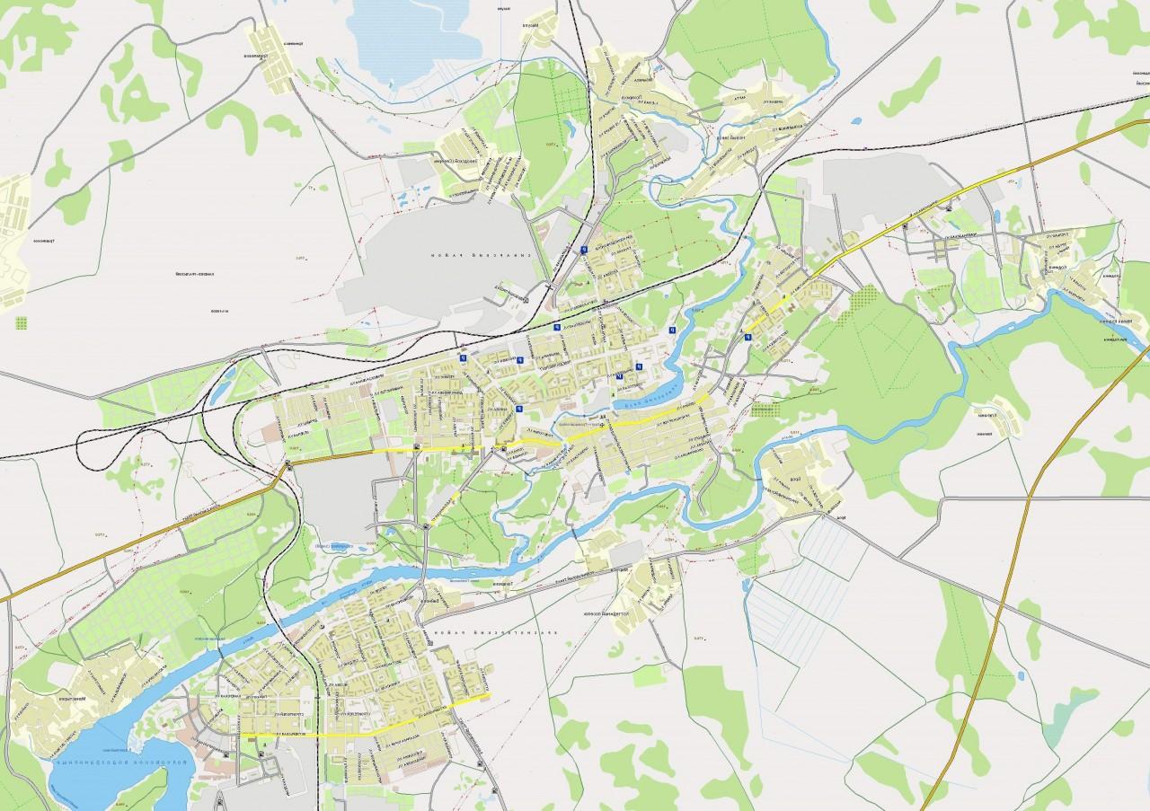 каменск-уральский схема карта на улице