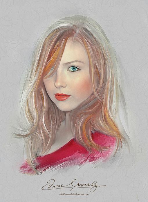 Красивые девушки в картинах Амро Ашри (Amro Ashry)