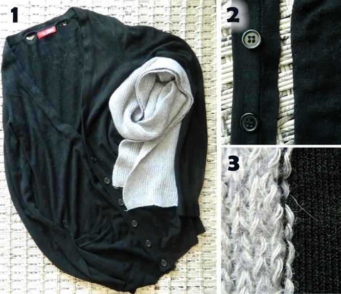 Идея от Armani: кардиган + шарф (мк)