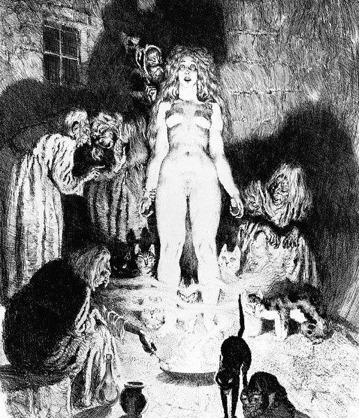 Прелестные нимфы, козлоногие обольстители и демоны в картинах Нормана Линдсея 2