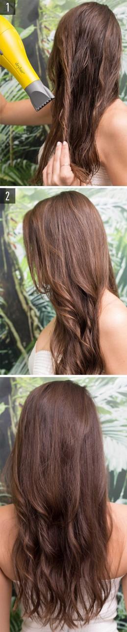 Укладка кончиков волос