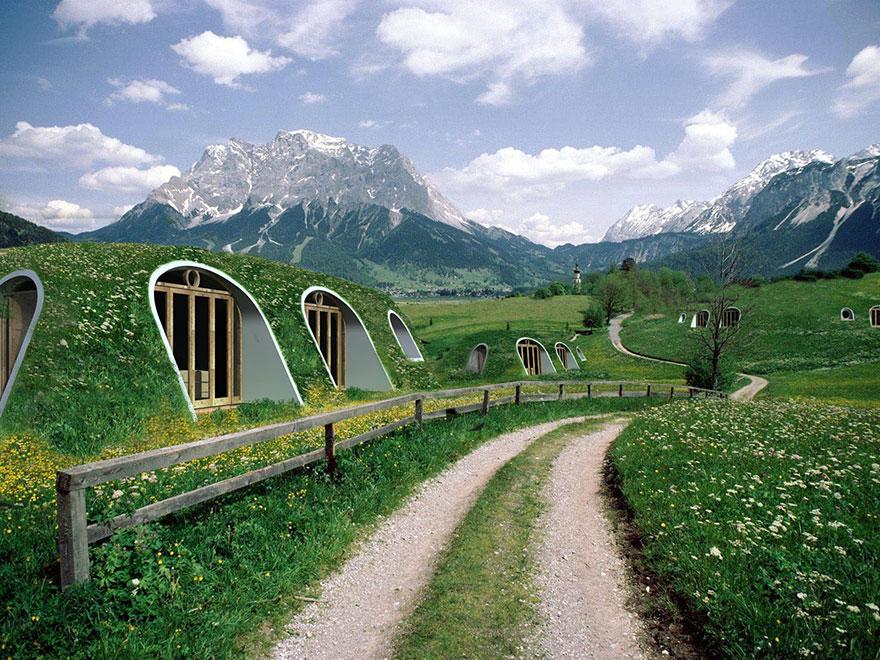 Компания Green Magic Homes строит «норы хоббитов», в которых действительно можно жить