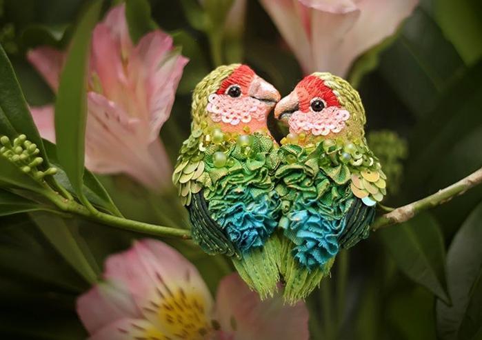"""手工胸针制作:""""惊人的""""鸟 - maomao - 我随心动"""