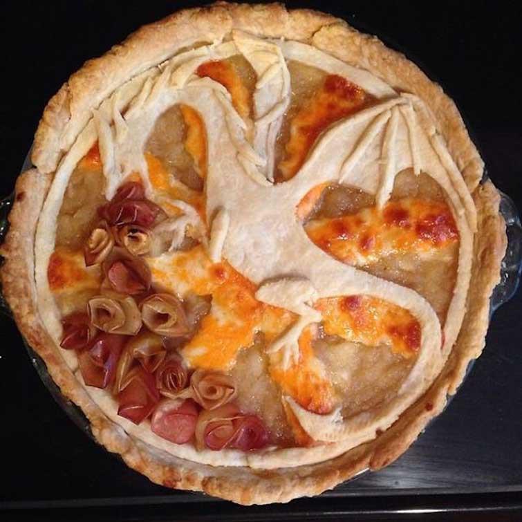 """Пирог """"Яблочнодышащий дракон"""" выпечка, красивая еда, кулинария, пироги"""