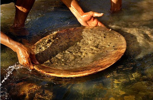 как мыть золото вручную-бф1