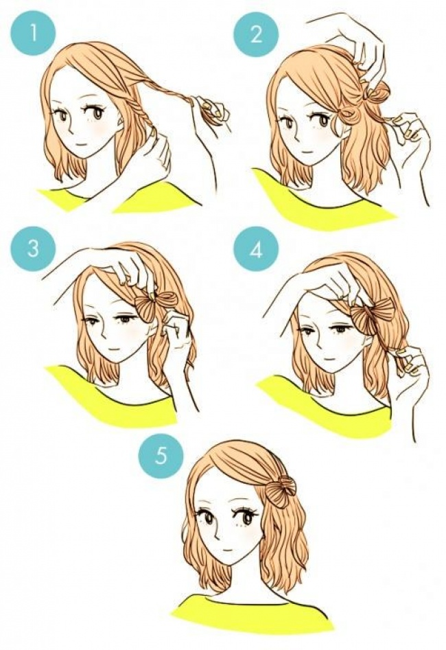 Прически быстро и легко своими руками короткие волосы