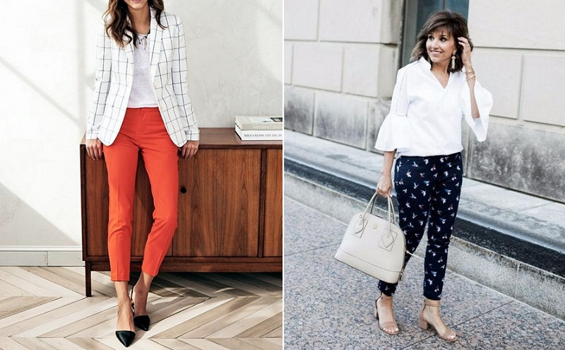 Модные чинос для женщин за 50: 13 простых образов на каждый день в 2019 году