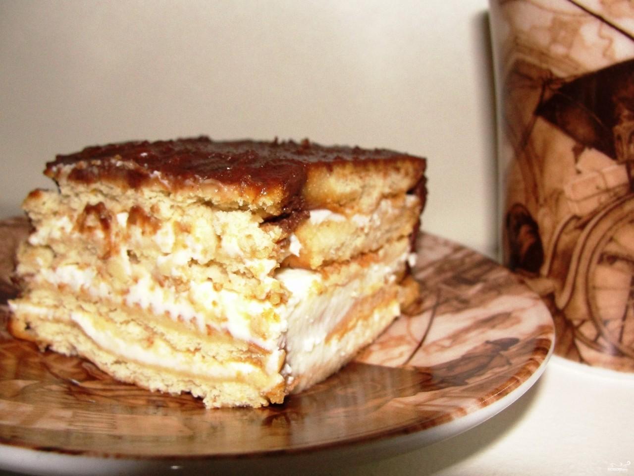 Торты без выпечки с печенья рецепты с пошаговым фото
