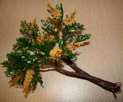 Дерево акации из бисера. Мас…