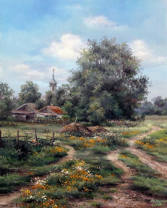 пейзажи художник Ольга Одальчук - 15