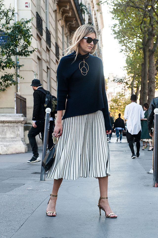 Неделя моды в Париже, весна-лето 2016: street style. Часть 1 (фото 37)