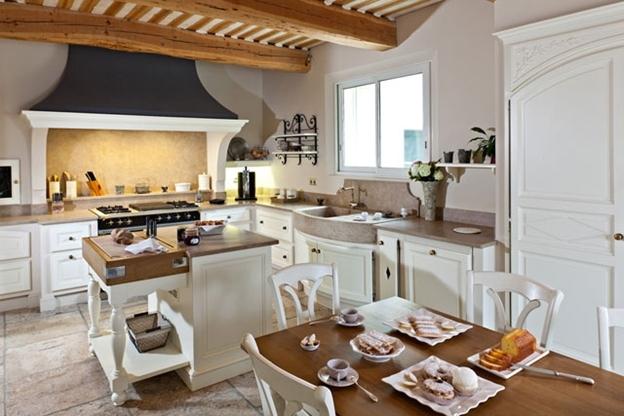Кухня в стиле прованс с современными элементами интерьера