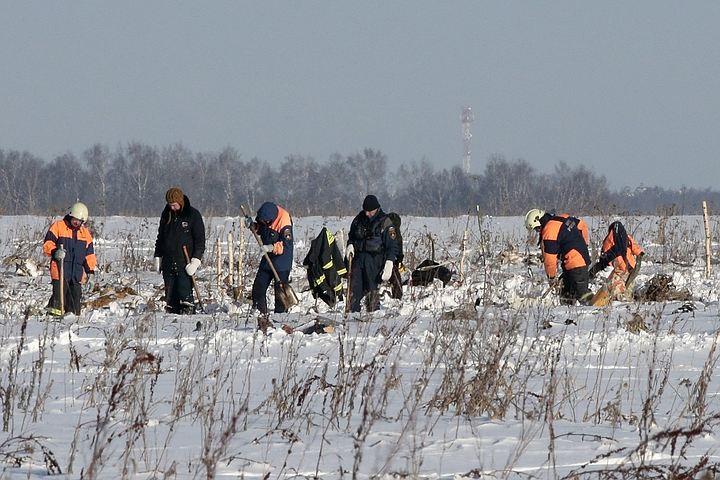 Крушение Ан-148 в Подмосковье: двигатели самолета подняли из воронки
