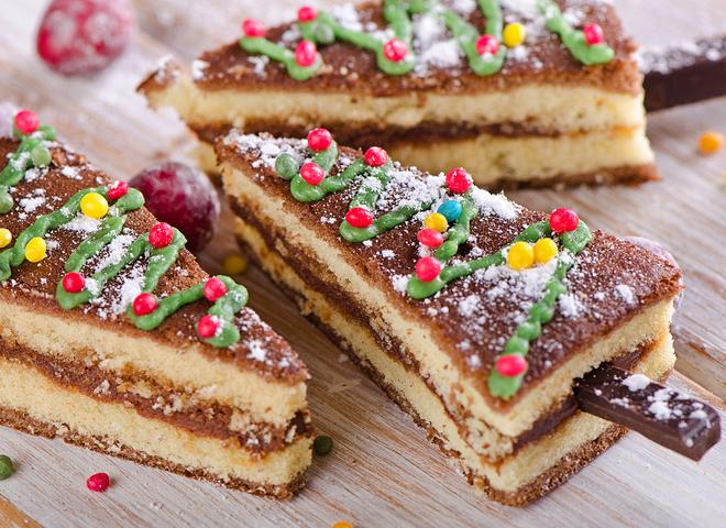 """Торт на Новый год 2016 """"Еловый лес"""""""