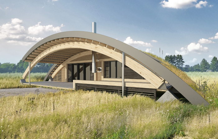 Современный «дом хоббита»: загородное жилище от московского архитектора