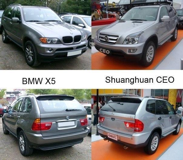 Китайские копии авто