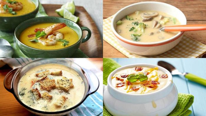 ДЕНЬ ПЕРВОГО БЛЮДА. Сырные супы (простые рецепты)