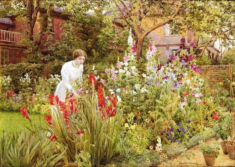 Цветущие сады в акварелях Beatrice E. Parsons