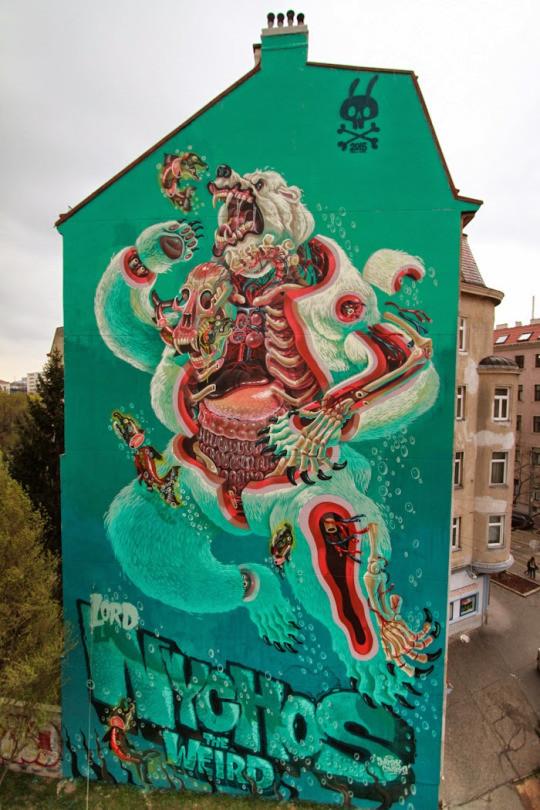 5. Вена, Австрия граффити, стрит-арт, художники
