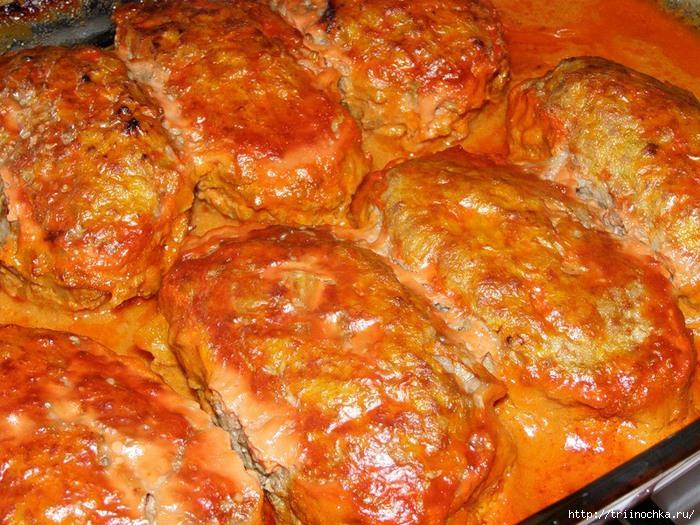 голубцы в духовке со сметаной рецепт с фото пошагово